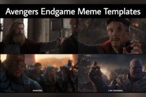 Avengers Endgame Meme Templates