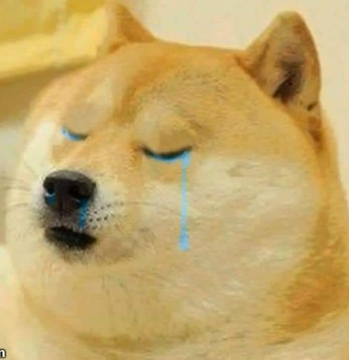 Sad Doggo in tears-Doggo meme templates