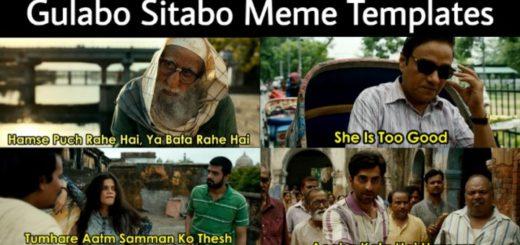 Gulabo Sitabo Meme Templates
