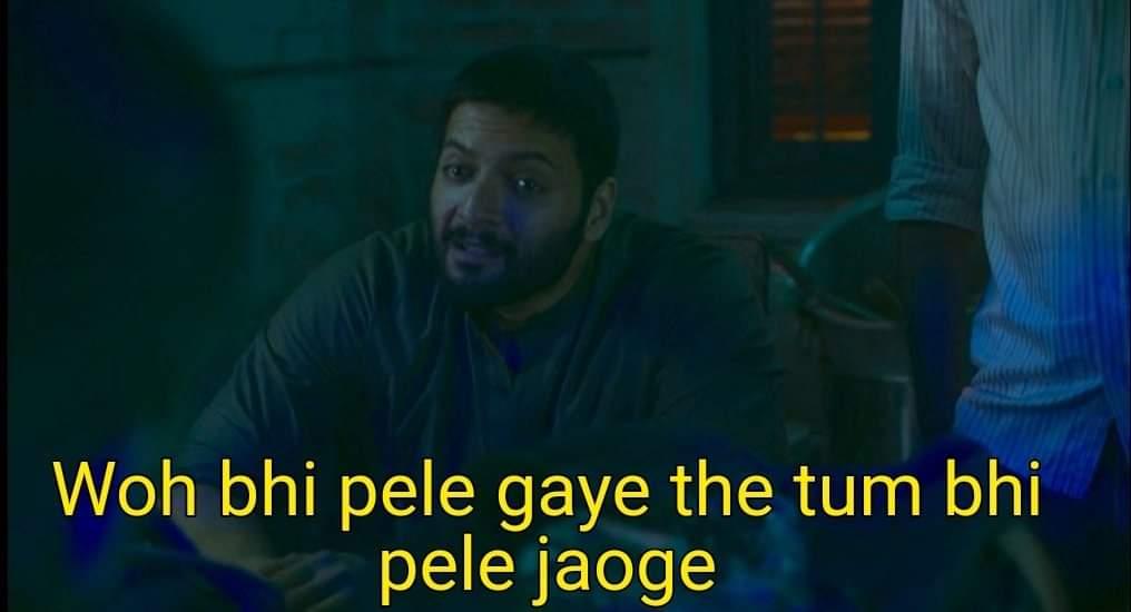 Wo Bhi Pele Gaye The-Tum Bhi Pele Jaoge-Mirzapur 2 meme templates-getmemetemplates- hindi webseries memes-guddu bhaiya fight-funny dialogues of Mirzapur 2